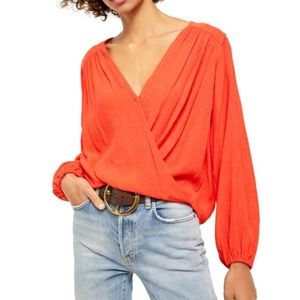 NWT Free People | Check On It Wrap Top Size Med